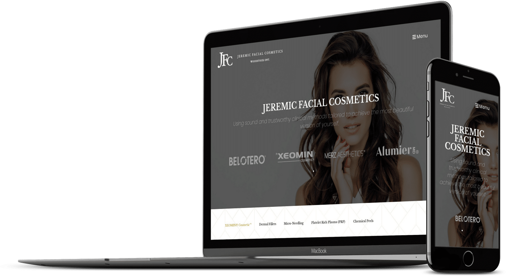 Jeremic Facial Cosmetics Website